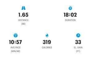 Map My Run App Screenshot showing Stats