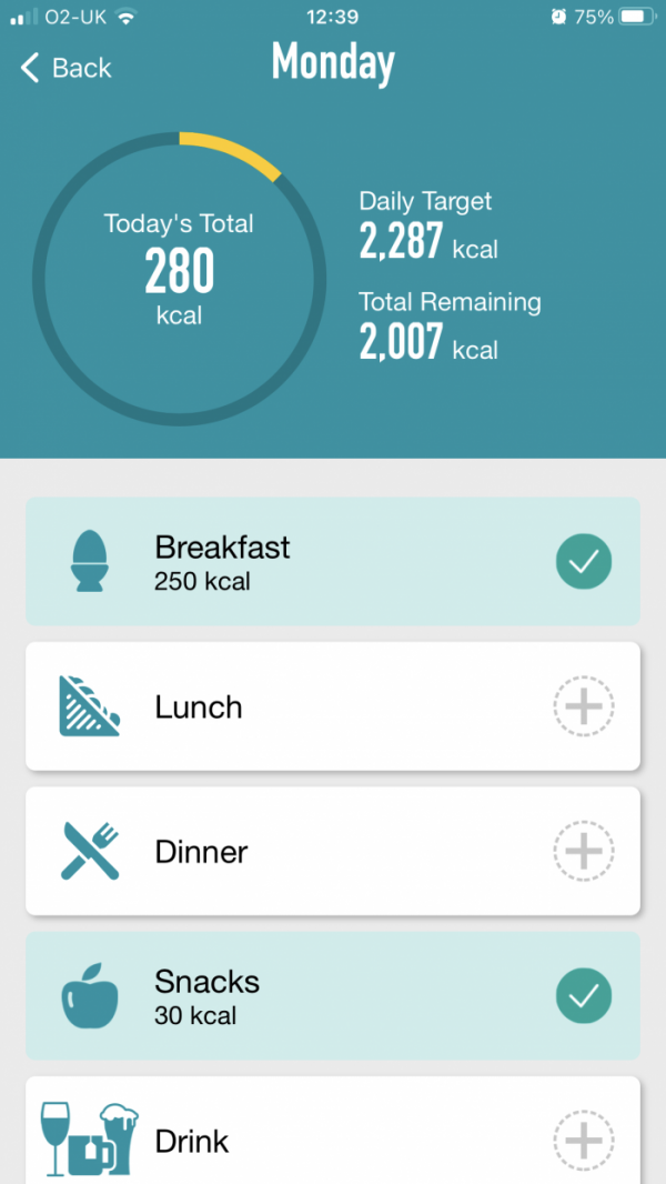 NHS Tracker App - Daily View 1