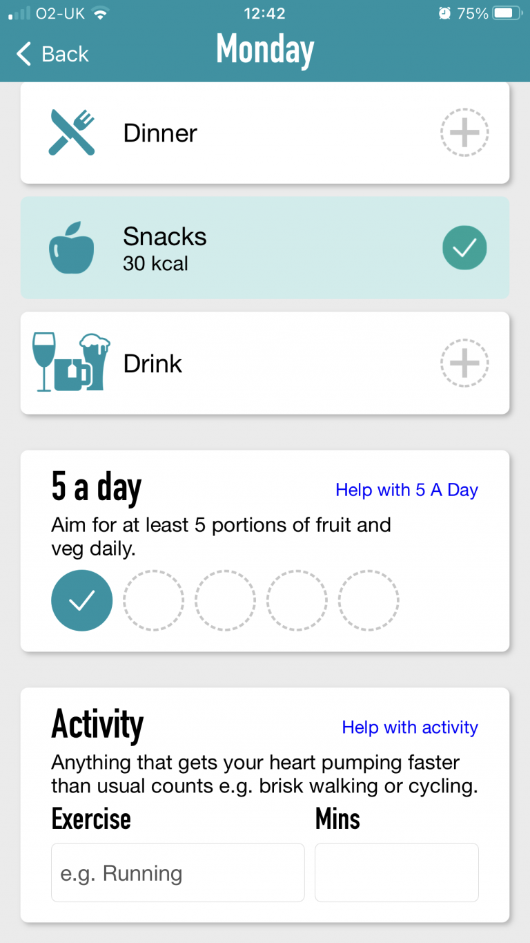 NHS Tracker App - Daily View 2
